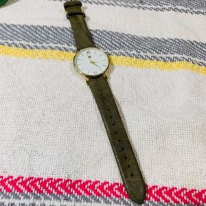 Francescas Army Green and Gold Watch